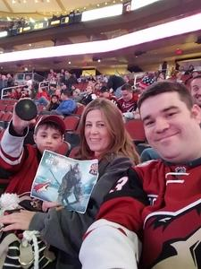 Jeremy attended Arizona Coyotes vs. Vancouver Canucks - NHL - Lower Level Tickets on Jan 26th 2017 via VetTix