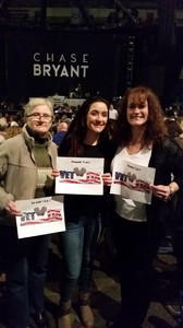Tanya attended Brad Paisley - Life Amplified World Tour With Special Guest Chase Bryant and Rising-star Lindsay Ell on Feb 16th 2017 via VetTix