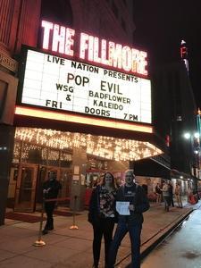Jeff attended Pop Evil - Live in Concert on Feb 24th 2017 via VetTix