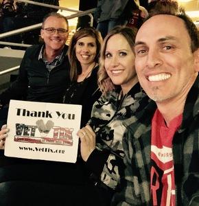 April attended Arizona Coyotes vs. Anaheim Ducks - NHL on Feb 20th 2017 via VetTix