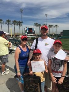 Todd attended Cincinnati Reds vs. San Diego Padres - MLB Spring Training on Mar 15th 2017 via VetTix