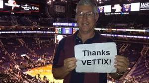 PhilR9 attended Phoenix Suns vs. Boston Celtics - NBA on Mar 5th 2017 via VetTix