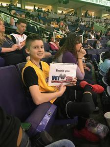 Jeff attended Phoenix Suns vs. Los Angeles Lakers - NBA on Mar 9th 2017 via VetTix
