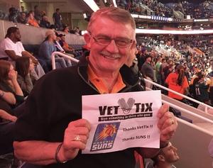 Agent attended Phoenix Suns vs. Sacramento Kings - NBA on Mar 15th 2017 via VetTix