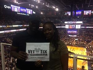 Jeremy attended Phoenix Suns vs. Sacramento Kings - NBA on Mar 15th 2017 via VetTix
