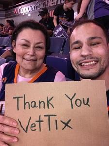 Catherine attended Phoenix Suns vs. Sacramento Kings - NBA on Mar 15th 2017 via VetTix