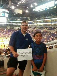 Gregory attended Phoenix Suns vs. Orlando Magic - NBA on Mar 17th 2017 via VetTix