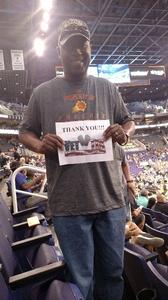 Frederick attended Phoenix Suns vs. Orlando Magic - NBA on Mar 17th 2017 via VetTix