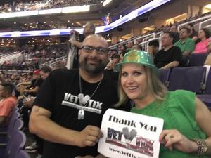 David attended Phoenix Suns vs. Orlando Magic - NBA on Mar 17th 2017 via VetTix