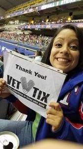 Miriam attended HEB Big League Weekend - American League West Division Champion Texas Rangers vs. American League Central Division Champion Cleveland Indians - MLB on Mar 17th 2017 via VetTix