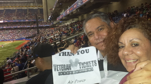 Adalberto attended HEB Big League Weekend - American League West Division Champion Texas Rangers vs. American League Central Division Champion Cleveland Indians - MLB on Mar 18th 2017 via VetTix
