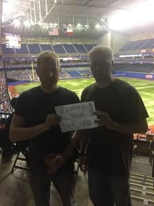 Daniel attended HEB Big League Weekend - American League West Division Champion Texas Rangers vs. American League Central Division Champion Cleveland Indians - MLB on Mar 18th 2017 via VetTix