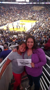 Alysea attended Phoenix Suns vs. Oklahoma City Thunder - NBA on Mar 3rd 2017 via VetTix
