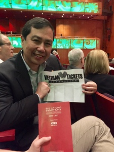 Joshua attended Masks - Presented by the San Antonio Symphony on Mar 18th 2017 via VetTix