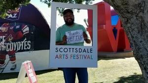 Duane attended Scottsdale Arts Festival - Saturday on Mar 11th 2017 via VetTix