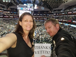 Roy attended Dallas Mavericks vs. Los Angeles Lakers - NBA on Mar 7th 2017 via VetTix