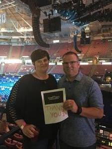 Robert attended Tim McGraw and Faith Hill - Soul2Soul World Tour - North Charleston Coliseum on Apr 20th 2017 via VetTix