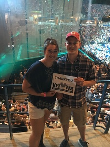 Kelby attended Tim McGraw and Faith Hill - Soul2Soul World Tour - North Charleston Coliseum on Apr 20th 2017 via VetTix