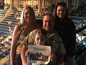 JUSTIN attended Tim McGraw and Faith Hill - Soul2Soul World Tour - Legacy Arena on Apr 21st 2017 via VetTix