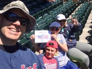 Shane attended Minnesota Twins vs. Boston Red Sox - MLB on May 6th 2017 via VetTix