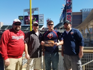 Adam attended Minnesota Twins vs. Boston Red Sox - MLB on May 6th 2017 via VetTix