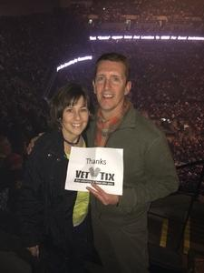 George attended Blake Shelton - Doing It to Country Songs Tour - Centurylink Center Omaha on Mar 18th 2017 via VetTix