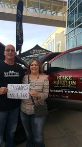 Laddie D. Novak attended Blake Shelton - Doing It to Country Songs Tour - Centurylink Center Omaha on Mar 18th 2017 via VetTix