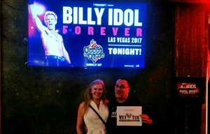 Allen attended SiriusXM Presents Billy Idol: Forever - 18 and Older - Standing Room Only on Mar 18th 2017 via VetTix