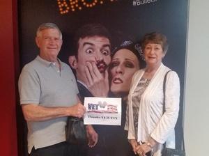 John attended Bullets Over Broadway on Mar 19th 2017 via VetTix
