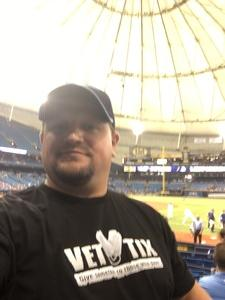 Cory attended Tampa Bay Rays vs. Cleveland Indians - MLB on Aug 10th 2017 via VetTix