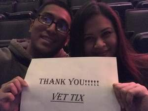 Andre attended Idina Menzel - 2017 World Tour on Apr 7th 2017 via VetTix
