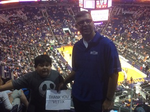 Gregory attended Phoenix Suns vs. Los Angeles Clippers - NBA on Mar 30th 2017 via VetTix