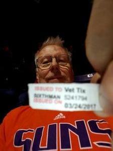 Gordon attended Phoenix Suns vs. Los Angeles Clippers - NBA on Mar 30th 2017 via VetTix