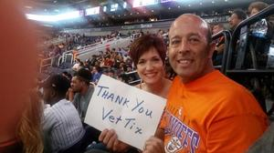 Fred attended Phoenix Suns vs. Los Angeles Clippers - NBA on Mar 30th 2017 via VetTix