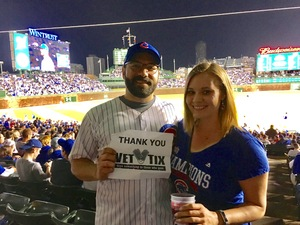 Paul attended Chicago Cubs vs. Milwaukee Brewers - MLB on Apr 18th 2017 via VetTix