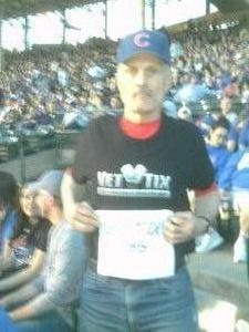Larry Nazimek attended Chicago Cubs vs. Milwaukee Brewers - MLB on Apr 18th 2017 via VetTix