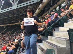 Keith attended Arizona Diamondbacks vs. Cleveland Indians - MLB on Apr 9th 2017 via VetTix