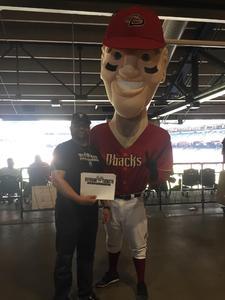 David attended Arizona Diamondbacks vs. Cleveland Indians - MLB on Apr 9th 2017 via VetTix