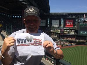 Richard and Toni attended Arizona Diamondbacks vs. Cleveland Indians - MLB on Apr 9th 2017 via VetTix