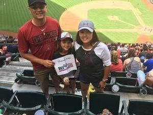 Pancho attended Arizona Diamondbacks vs. Cleveland Indians - MLB on Apr 9th 2017 via VetTix
