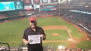 David attended Arizona Diamondbacks vs. Cleveland Indians - MLB on Apr 7th 2017 via VetTix
