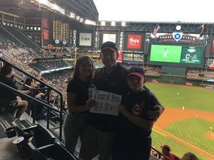 James attended Arizona Diamondbacks vs. Cleveland Indians - MLB on Apr 7th 2017 via VetTix