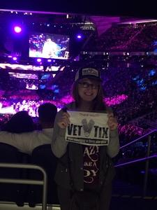 Chelsea attended George Strait - Strait to Vegas With Special Guest Cam - Friday on Apr 7th 2017 via VetTix