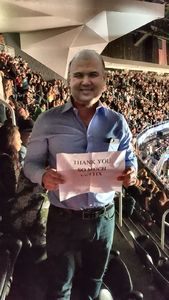 steven attended George Strait - Strait to Vegas With Special Guest Cam - Saturday on Apr 8th 2017 via VetTix