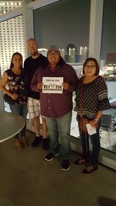 MARIO attended George Strait - Strait to Vegas With Special Guest Cam - Saturday on Apr 8th 2017 via VetTix