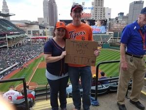 Spencer attended Cleveland Indians vs. Detroit Tigers - MLB on Apr 16th 2017 via VetTix