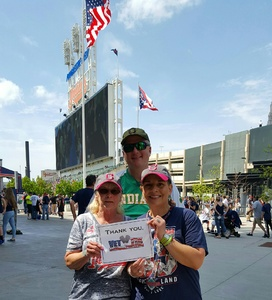 Frances attended Cleveland Indians vs. Seattle Mariners - MLB on Apr 30th 2017 via VetTix