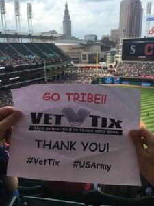 Jim Williams attended Cleveland Indians vs. Seattle Mariners - MLB on Apr 30th 2017 via VetTix