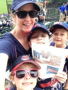 Tina attended Cleveland Indians vs. Kansas City Royals - MLB on May 28th 2017 via VetTix