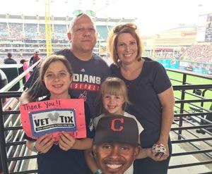 James attended Cleveland Indians vs. Kansas City Royals - MLB on May 28th 2017 via VetTix